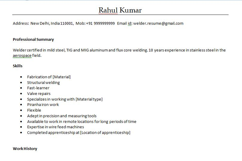 Welder Resume Sample Doc Resume Sample Welder Fabricator Luxury