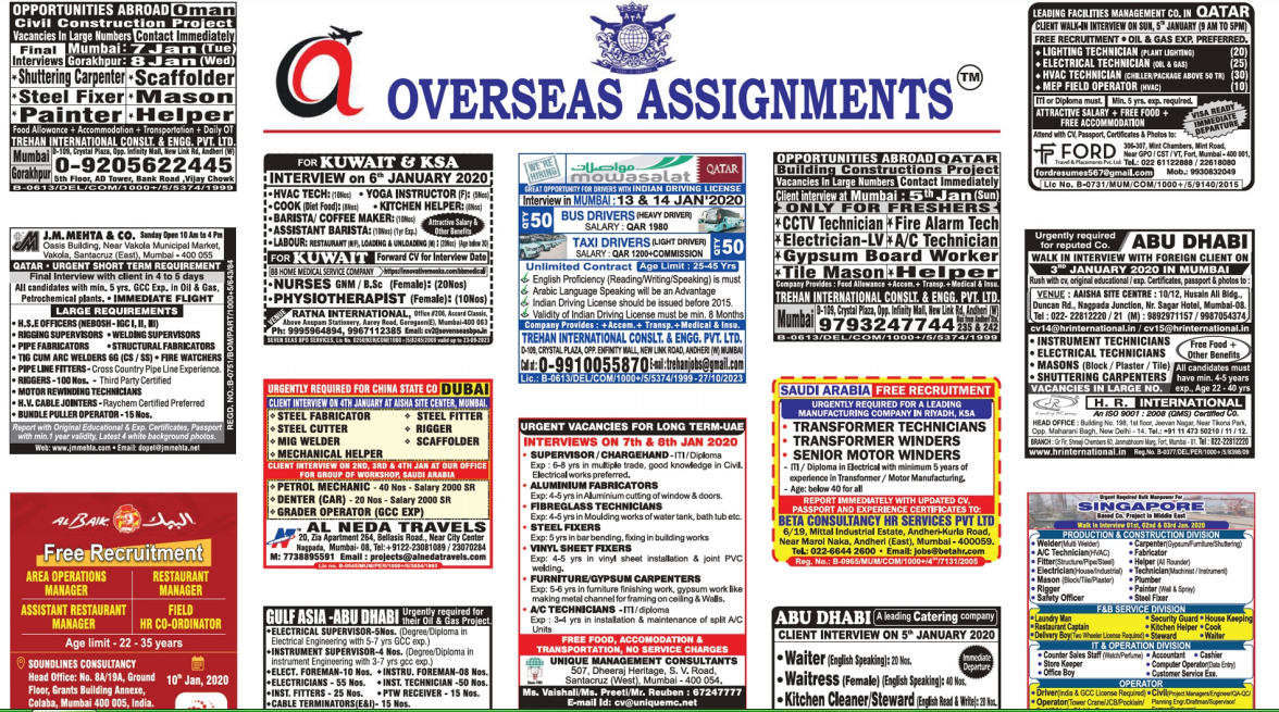 Assignment Abroad Times 03 jan 2020