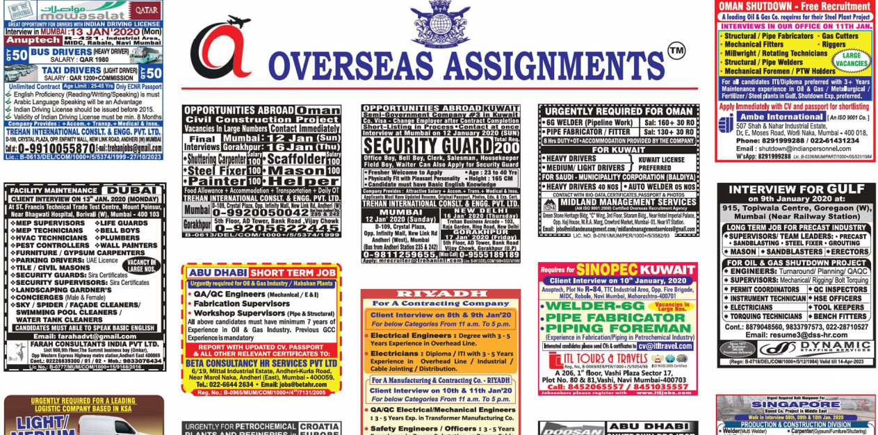 Assignment Abroad Times 08 jan 2020
