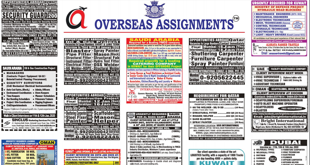 Assignment Abroad Times 11 jan 2020