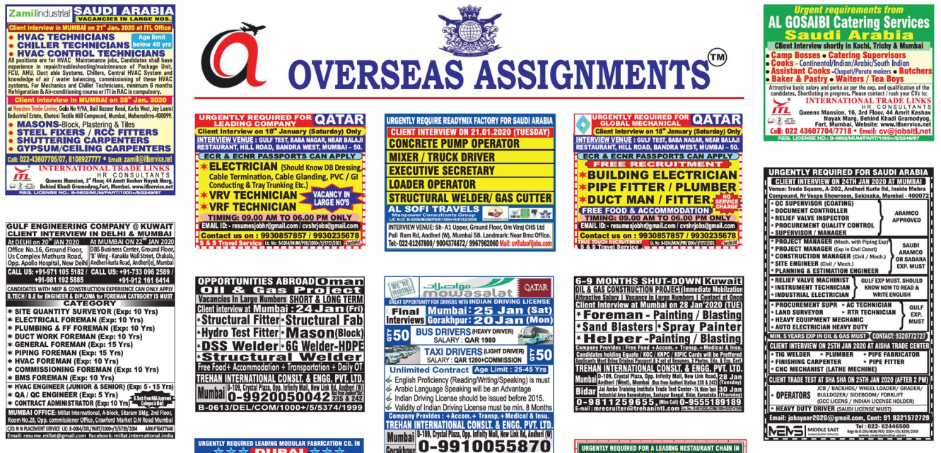 Assignment Abroad Times 18jan 2020