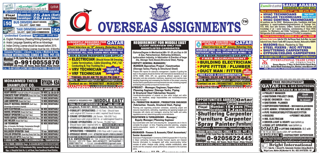 Assignment Abroad Times 15 jan 2020
