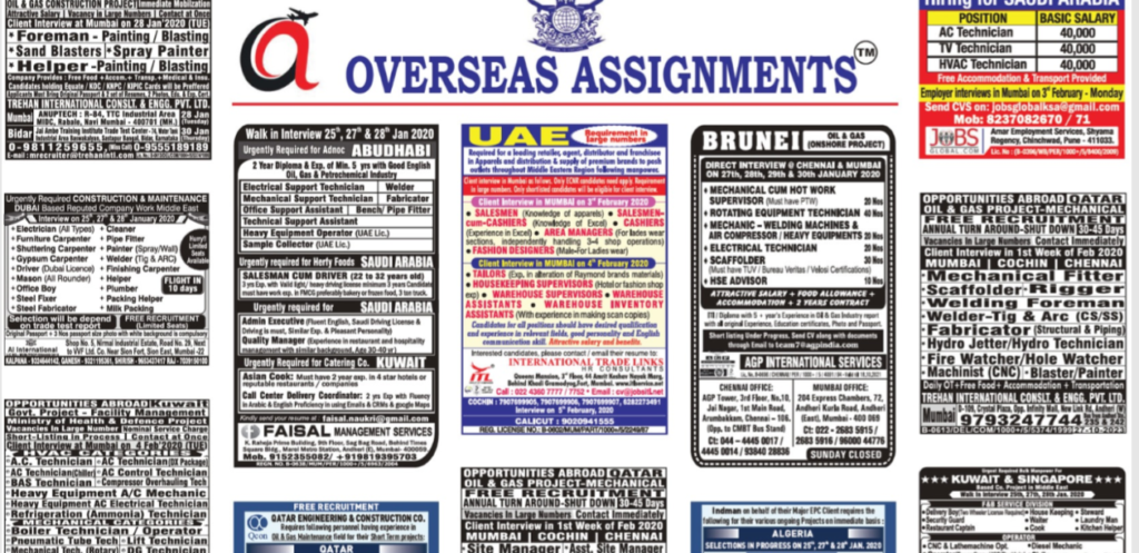 assignment abroad times 29 jan