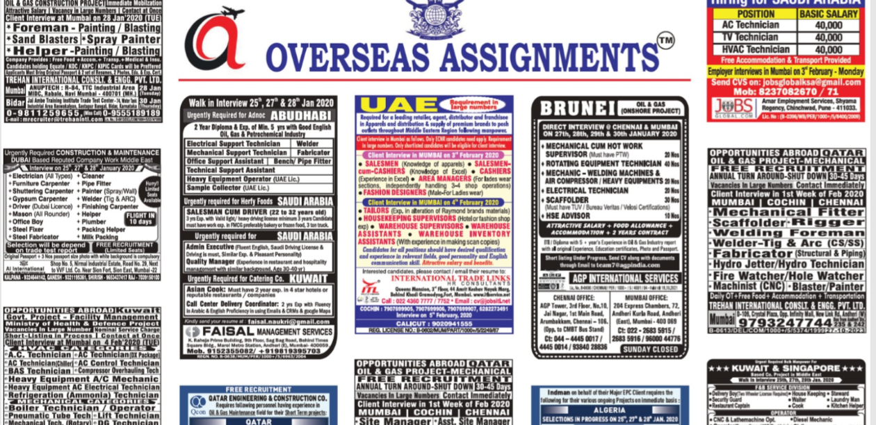 assignment abroad times 25 jan