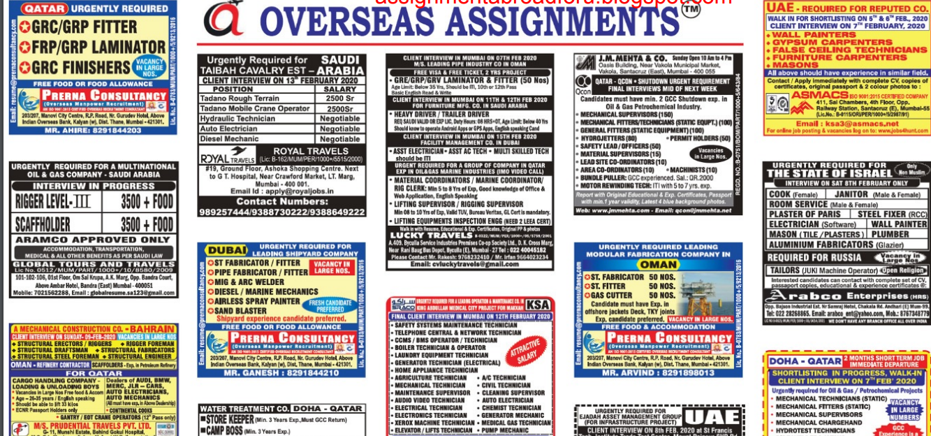 Assignments Abroad Times