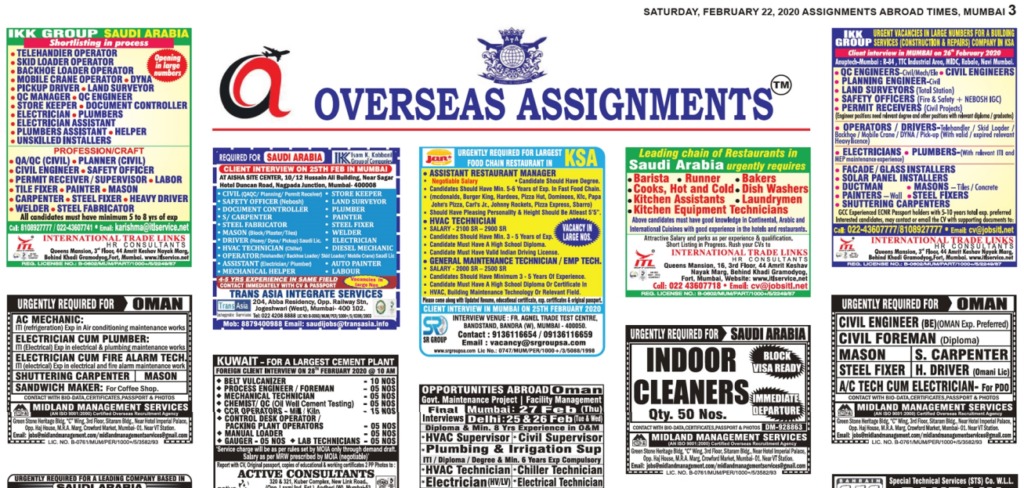 Assignment Abroad Times 22 feb