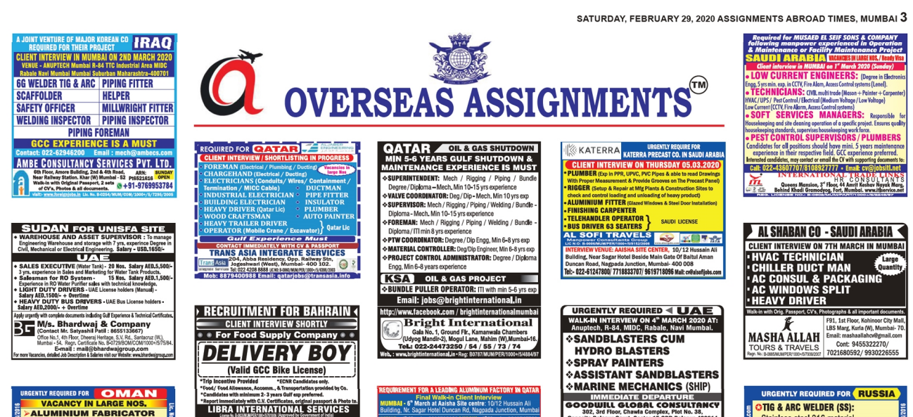 Assignment Abroad Times 29 feb