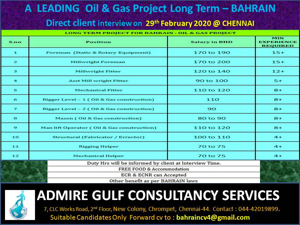 gulf jobs 25 feb exp 27