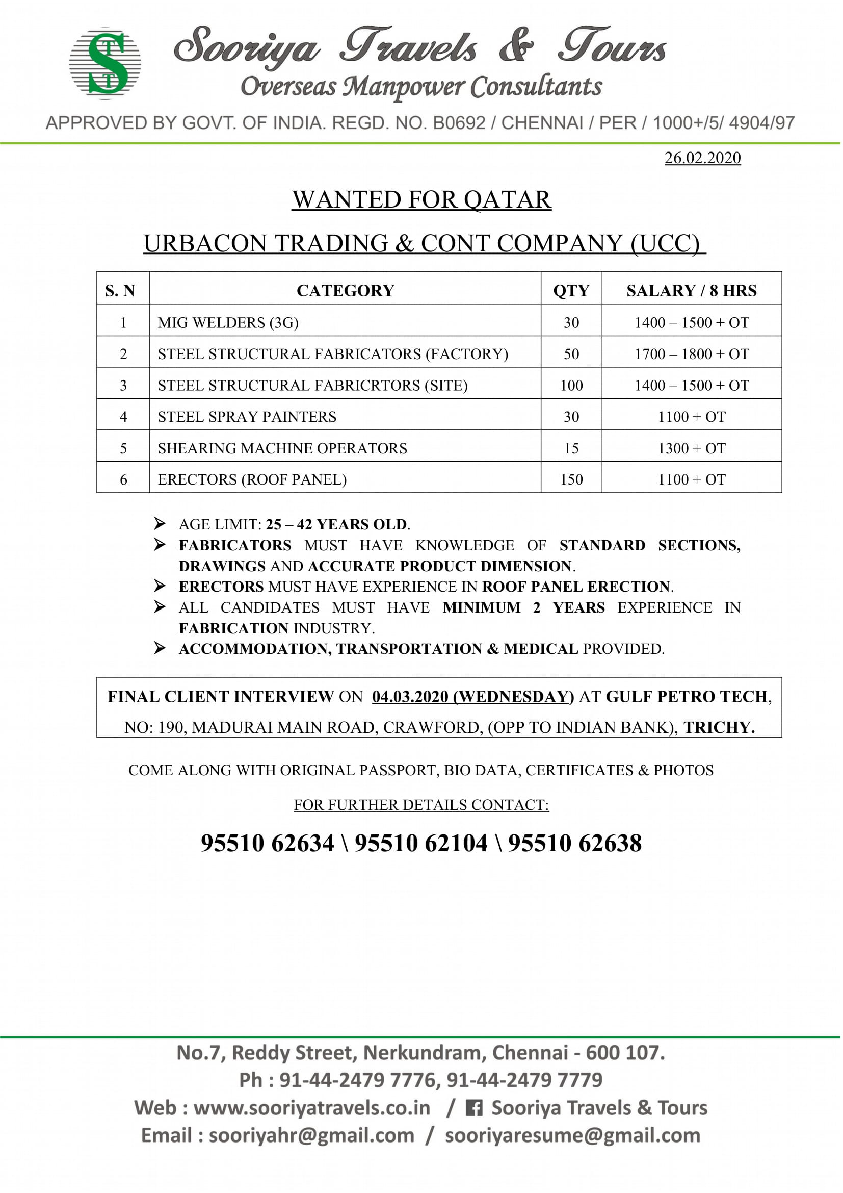 gulf jobs 27 exp 10 march