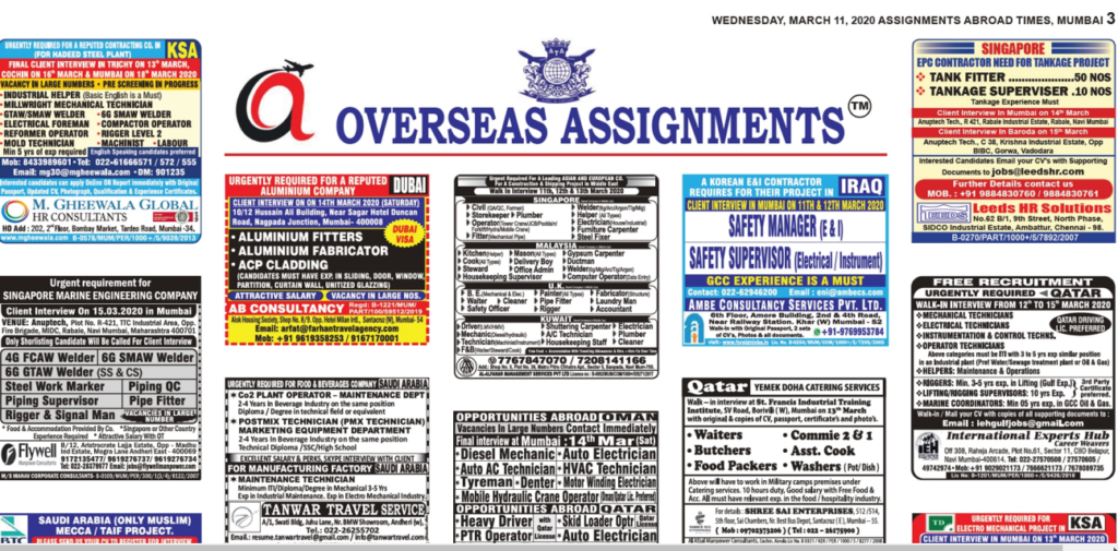 Assignment Abroad Times 11 march