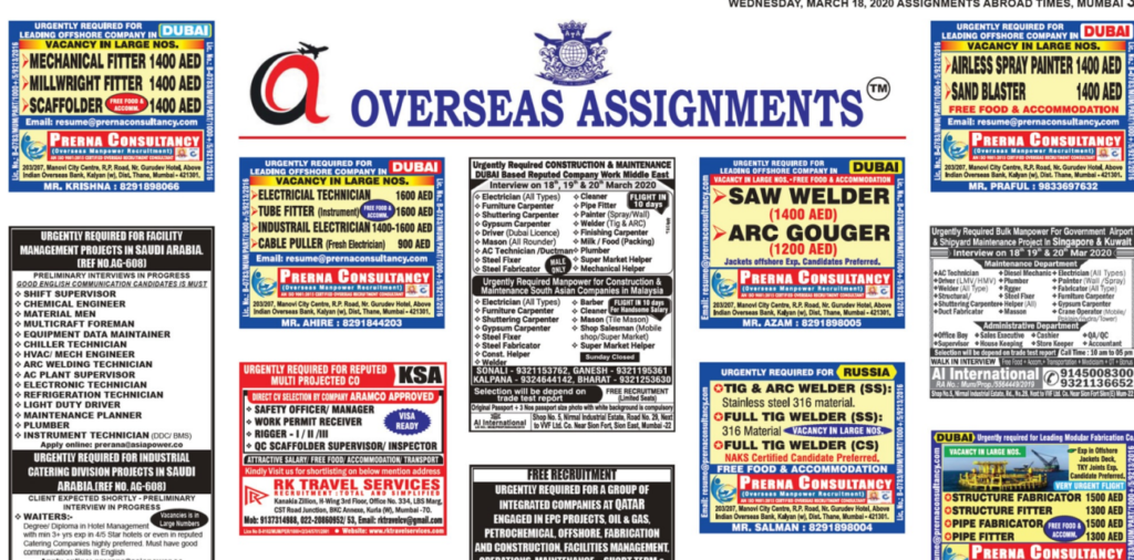 Assignment Abroad Times 18march