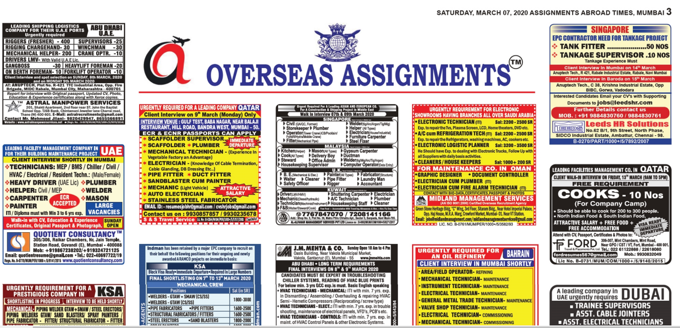 Assignment Abroad Times 7 march