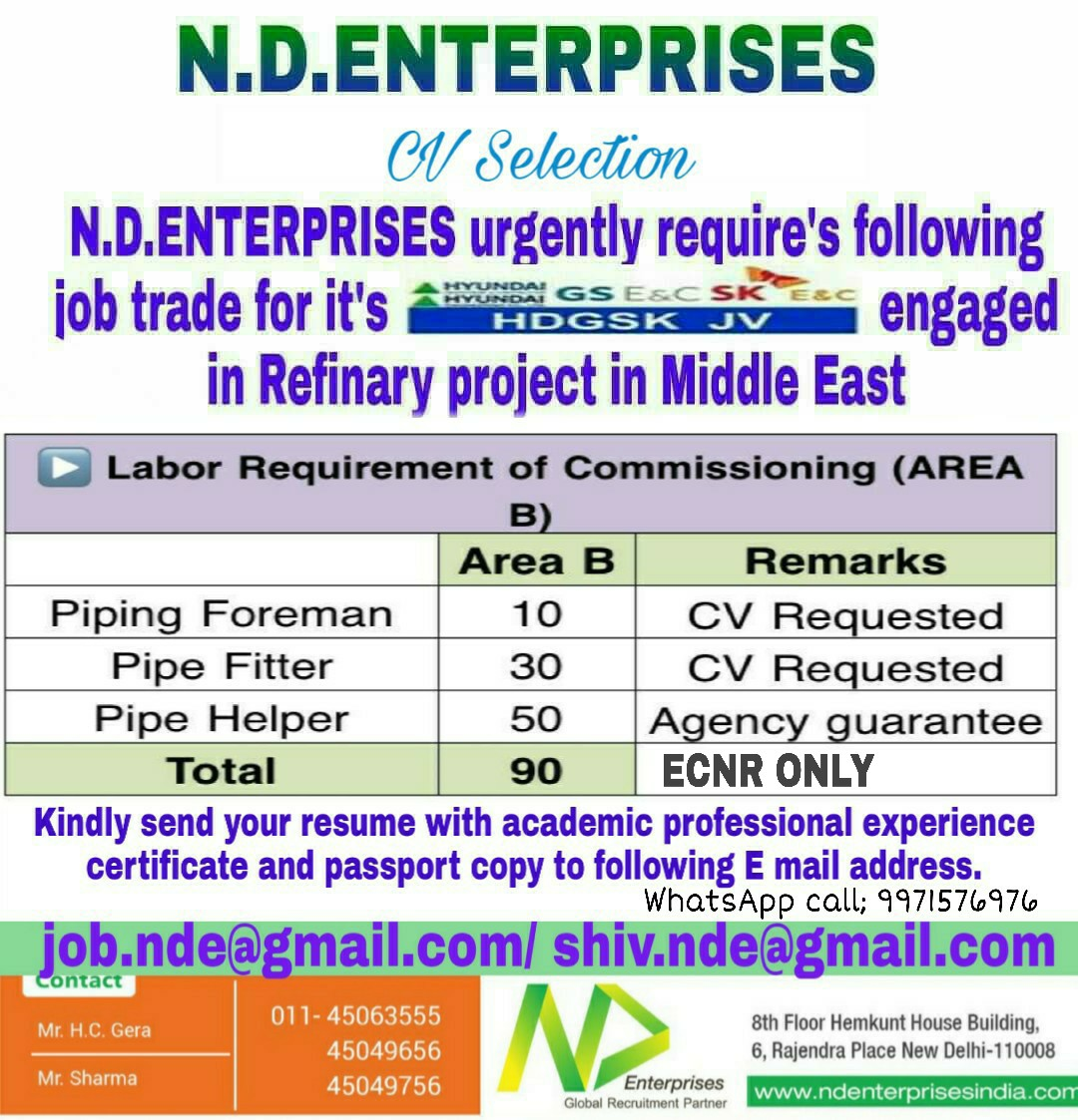 gulf jobs for middle east
