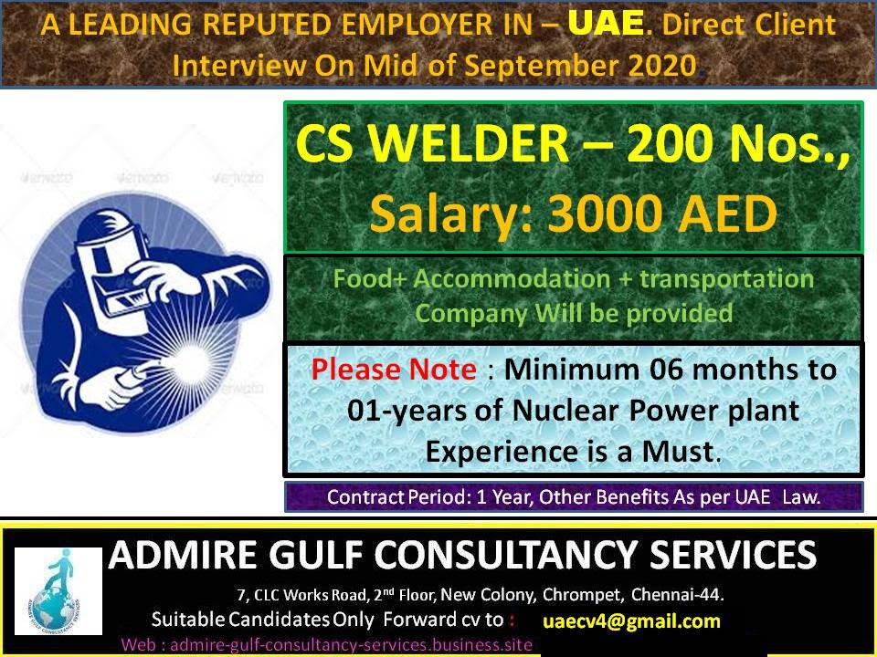 Gulf jobs assignment abroad