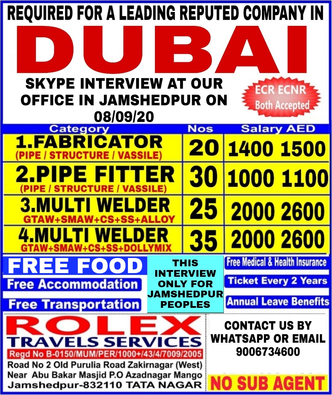 Jobs for Dubai