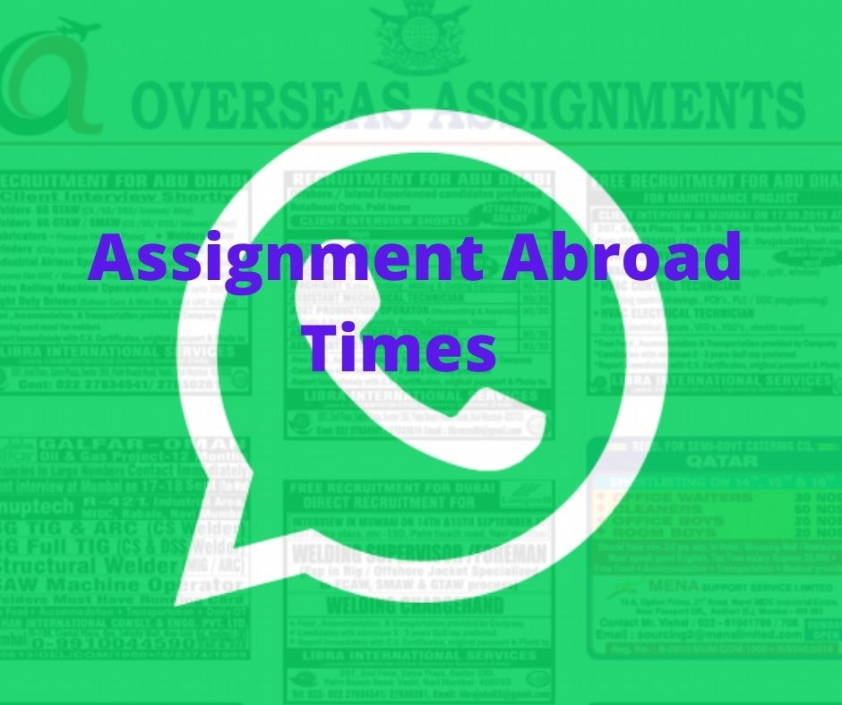 assignment abroad times whatsapp group