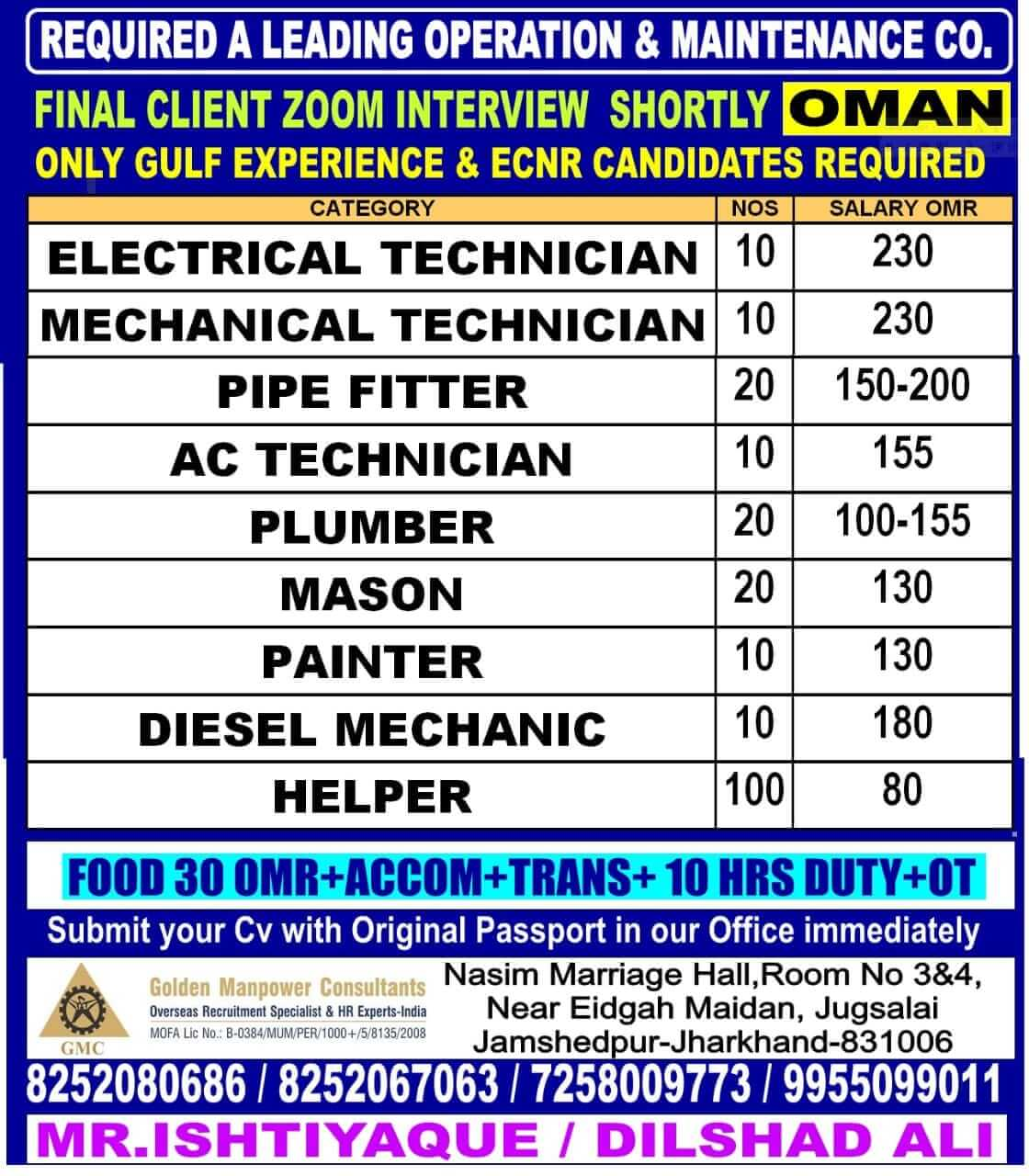 Jobs in Oman