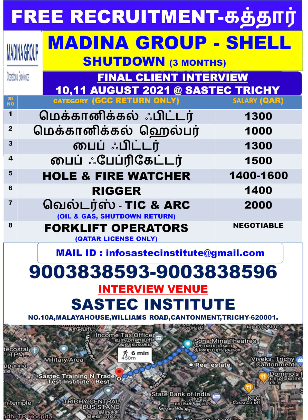 Free requirement