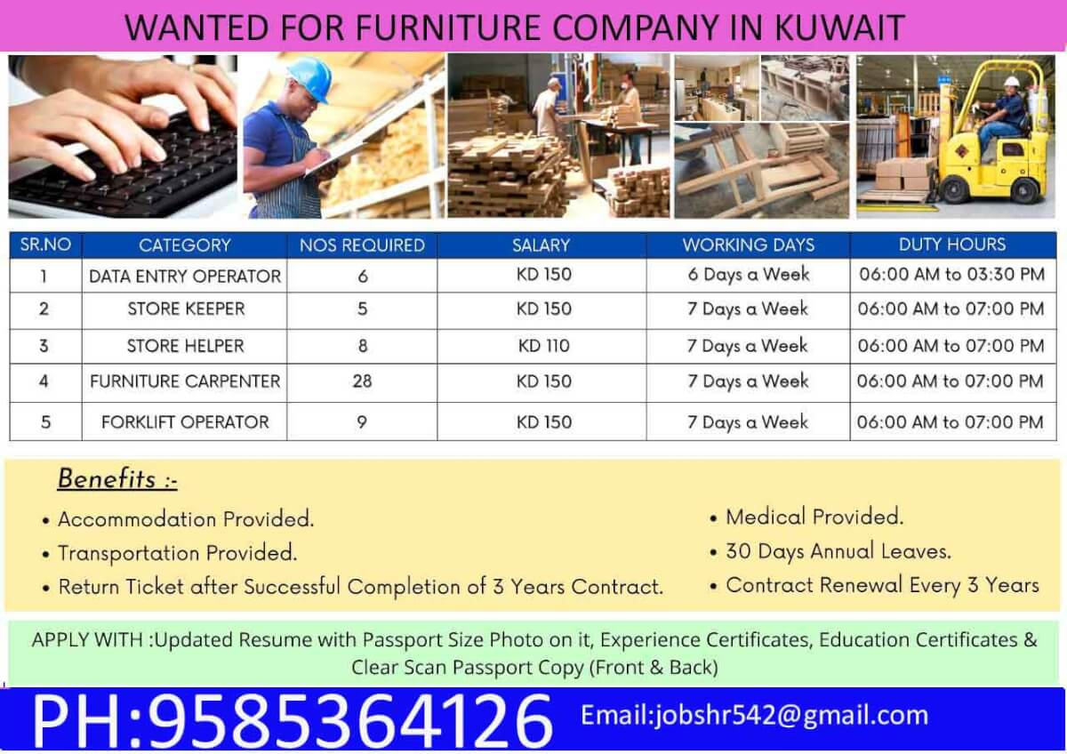 Wanted for Kuwait