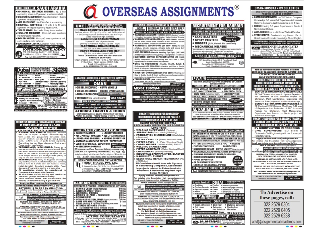 Assignment abroad times 4 sep
